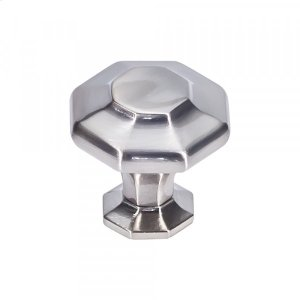 Palazzo Knob 1 5/8 Inch Brushed Satin Nickel Product Image