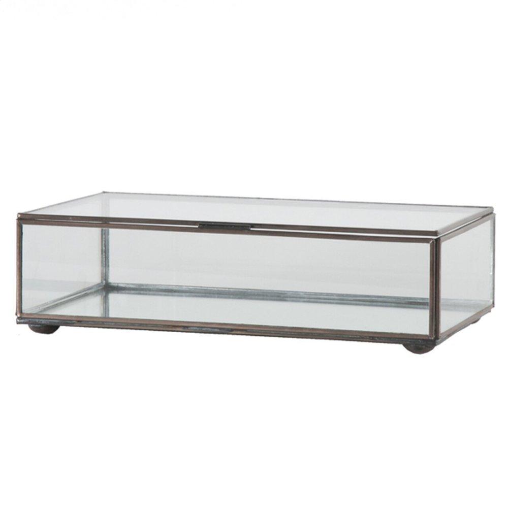 Medium Rectangular Box With Clear Glass