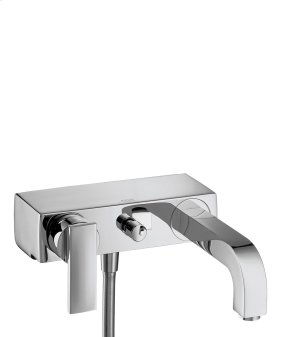 Chrome Single lever bath mixer for exposed installation with lever handle Product Image