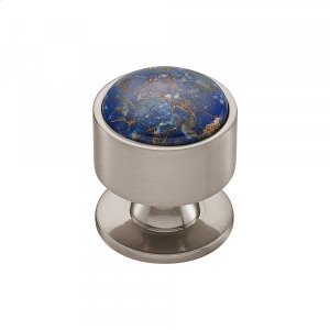 Firesky Mohave Lapis Knob 1 3/8 Inch Brushed Satin Nickel Product Image