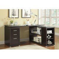 Yvette Cappuccino Executive Desk Product Image