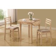 Casual Natural and Beige Three-piece Dining Set Product Image