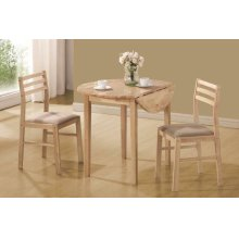 Casual Natural and Beige Three-piece Dining Set