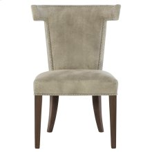 Remy Leather Dining Side Chair in Cocoa