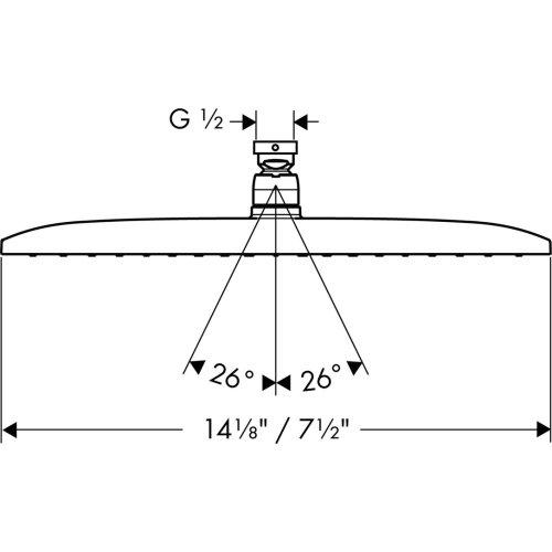 Brushed Nickel Showerhead 360 1-Jet, 2.5 GPM