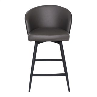 Webber Swivel Counter Stool Charcoal
