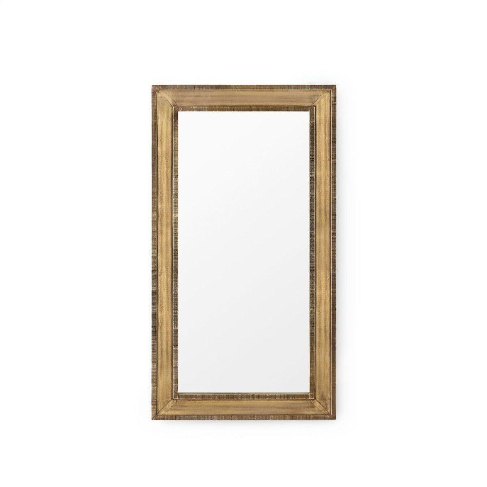 Ellen Small Mirror, Brass