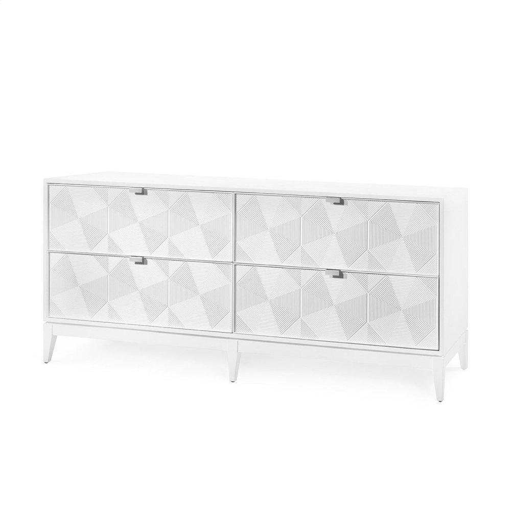 Borneo Extra Large 4-Drawer, White