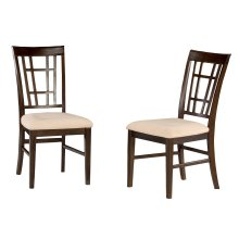 Montego Bay Dining Chairs Set of 2 with Oatmeal Cushion in Walnut