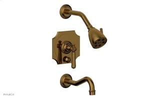 MARVELLE Pressure Balance Tub and Shower Set - Lever Handle 162-27 - French Brass Product Image