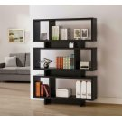 Contemporary Cappuccino Geometric Bookcase Product Image