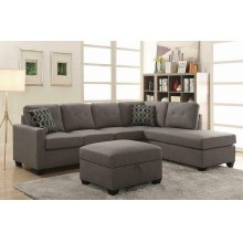 Powell Transitional Taupe Sectional