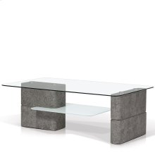 Deco Rectangular Glass Top Coffee Table