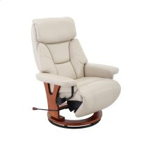 Bismark Recliner in Cobblestone Air Leather