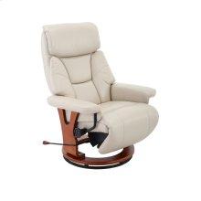 Bismark Recliner in Cobblestone Air Leather