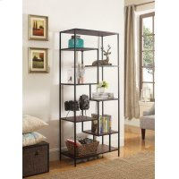 Industrial Walnut and Black Bookcase Product Image
