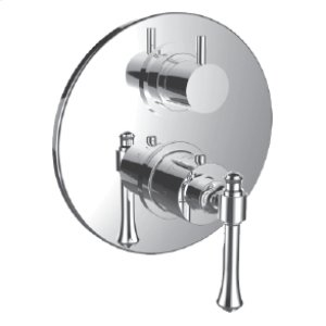 "7099ho-tm - 1/2"" Thermostatic Trim With 3-way Diverter Trim (shared Function) in Satin Chrome"