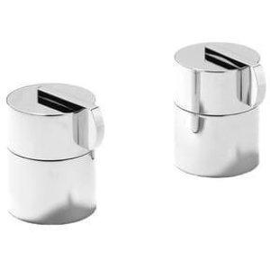 Matt Black Chrome Side valves for overflow filler (pair)