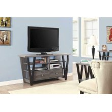 Modern Two-tone Trapezoid TV Console