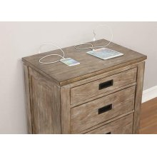 Meester Rustic Barn Door Nightstand