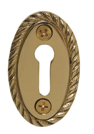 Nostalgic Warehouse - Rope Keyhole Cover in Polished Brass Product Image