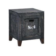 Storage End Table - Coal Finish