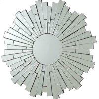 Transitional Sunburst Frameless Mirror Product Image