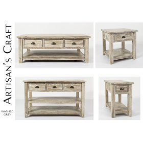Artisan's Craft Sofa Table - Washed Grey