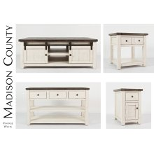 Madison County End Table - Vintage White