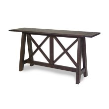 Console Table - Distressed Root Beer Finish