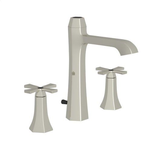 Polished Nickel Bellia High Neck Widespread Lavatory Faucet