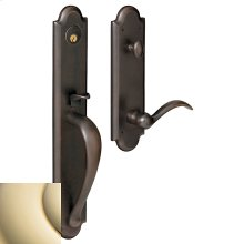 Lifetime Polished Brass Boulder Full Handleset