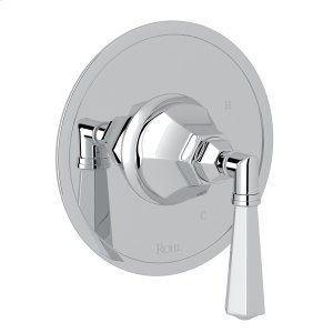 Polished Chrome Palladian Pressure Balance Trim Without Diverter with Metal Lever Product Image