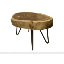 Authentic Live-Edge End Table