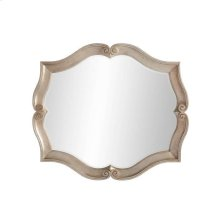 Juniper Dell Scalloped Mirror - Tarnished Silver Leaf
