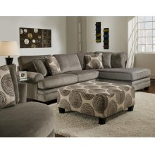 8642 Groovy Smoke Sectional Sofa