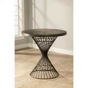 Kanister Round Counter-height Dining Table - Dark Pewter With Weathered Walnut Top Product Image