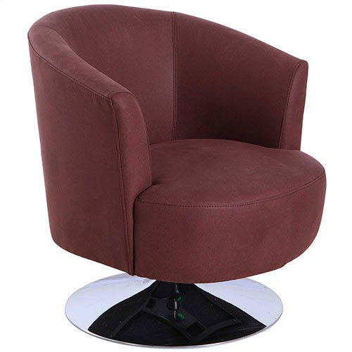 Twist Accent Chair in Cocoa Fabric