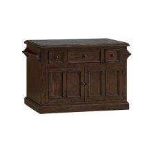 Tuscan Retreat® 3 Drawer 4 Door Large Granite Top Kitchen Island - Rustic Mahogany