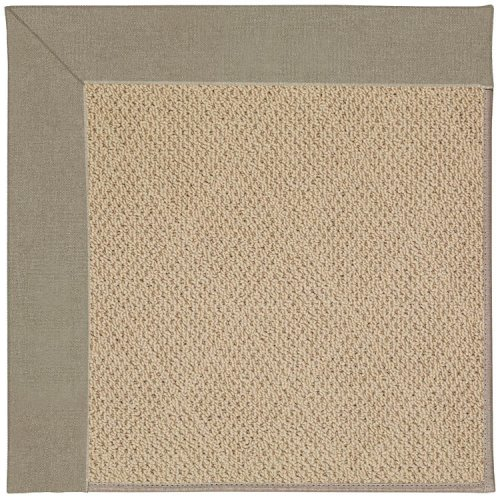 Creative Concepts-Cane Wicker Canvas Taupe Machine Tufted Rugs