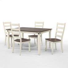 Glennwood Dining Table  White & Charcoal