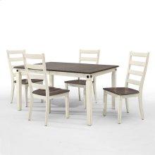 Glennwood Dining Table  White & Charcoal