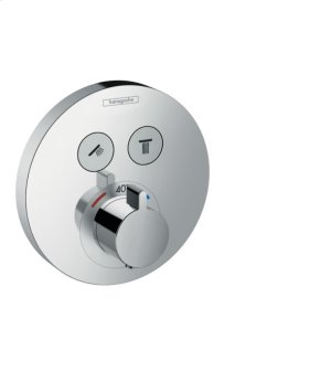 Chrome Thermostatic Trim for 2 Functions, Round Product Image