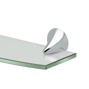 Brie Glass Shelf in Chrome Product Image