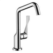 Chrome Single lever kitchen mixer 260 with swivel spout 1.5 GPM