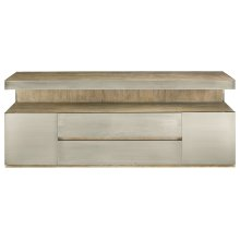 Bennett Entertainment Console in Rustic Sand