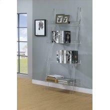 Amaturo Clear Acrylic Ladder Bookcase