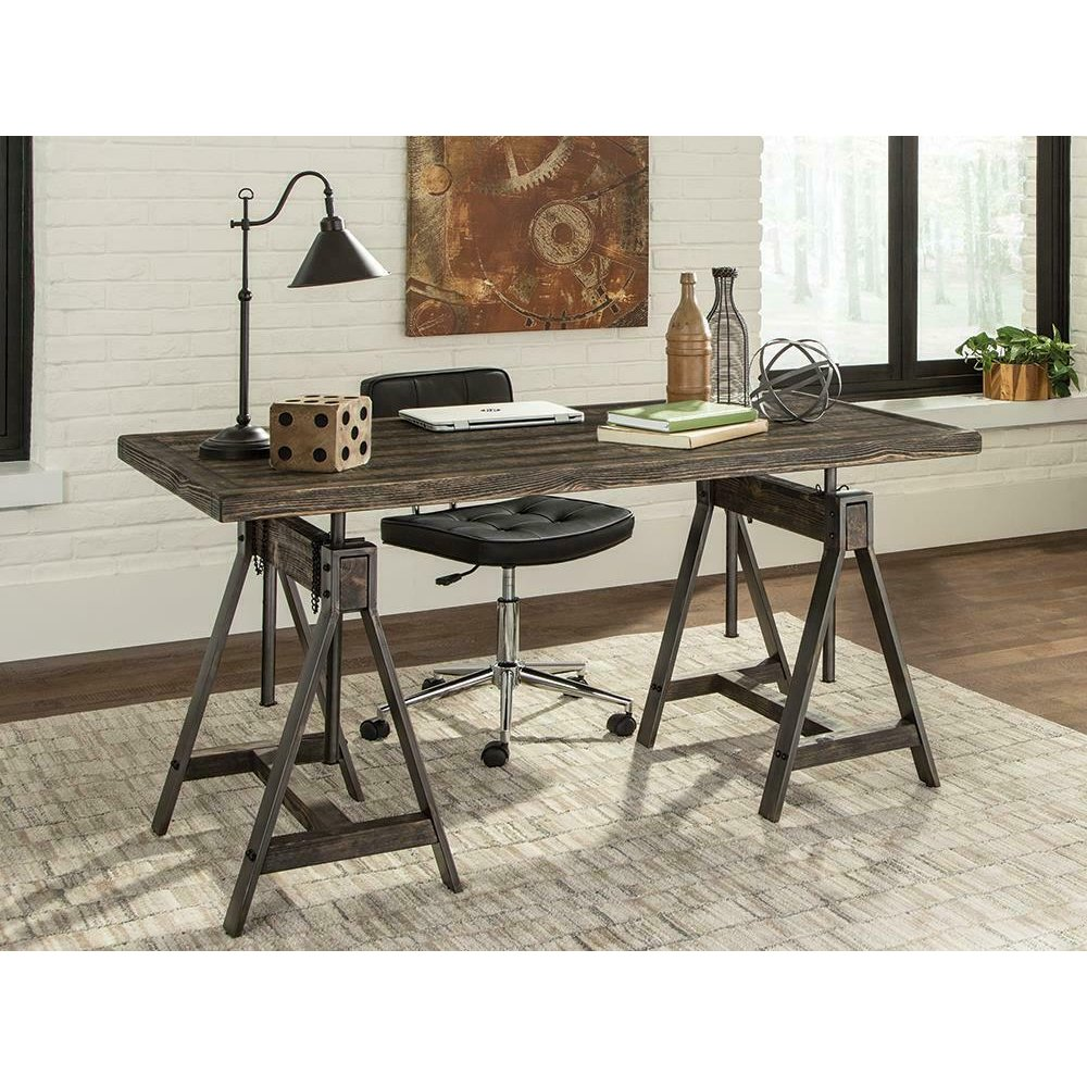 Deponte Weathered Gunmetal Adjustable Writing Desk