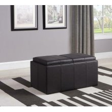 Casual Brown Ottoman