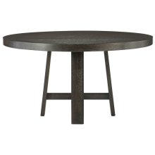 "Colworth Round Dining Table (60"") in Black Truffle"